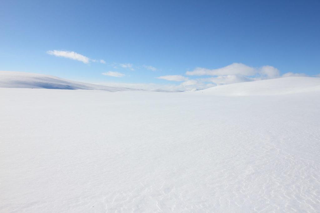 Kaldoaivi arktinen erämaa ja tilaa hengittää