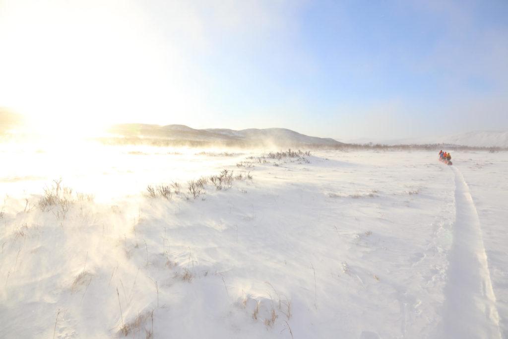 Muokatunturin erämaa-alue opastettu hiihtovaellus