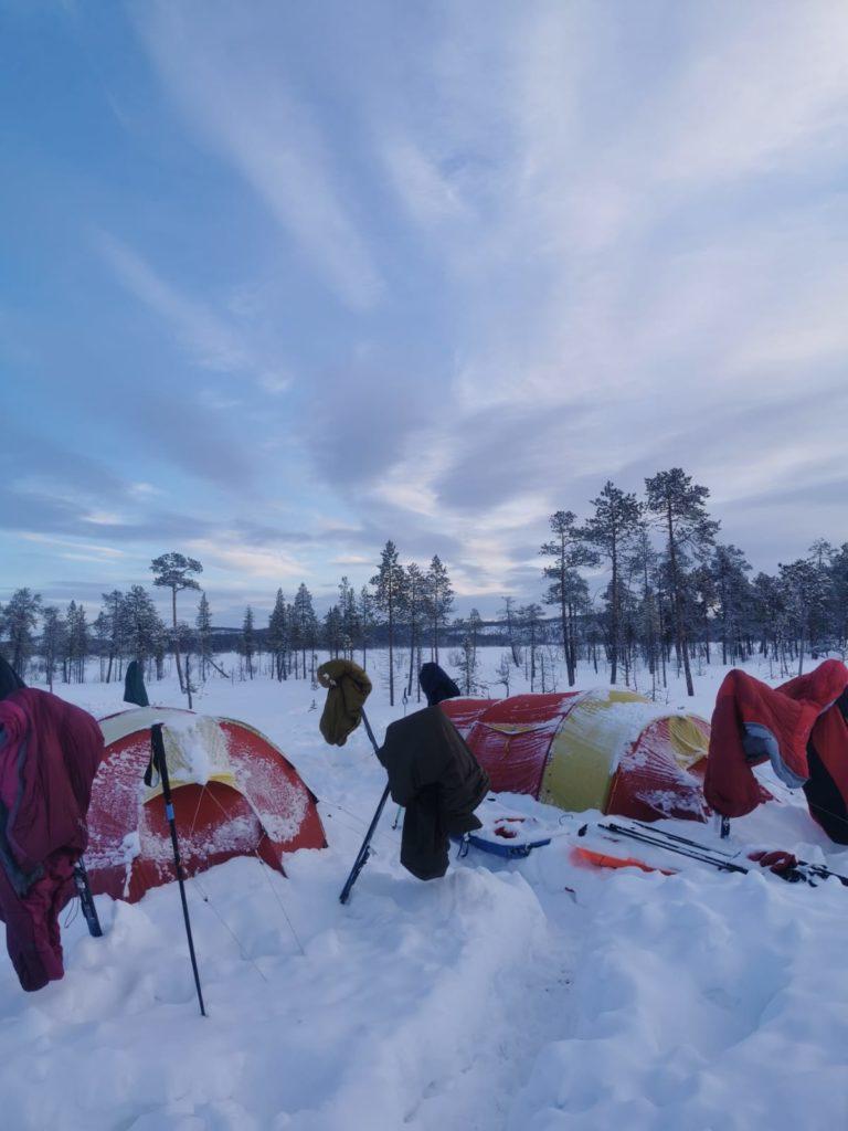 leiri, teltta, talvitelttailu, talvivaellus