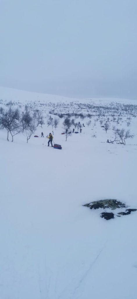 Paistunturit, Paistunturin erämaa-alue, hiihtovaellus, talvivaellus