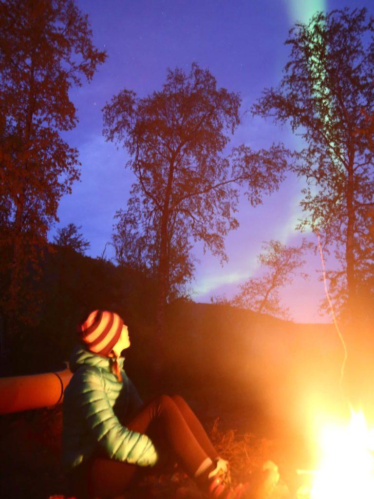 revontulet, ruska, retki, vaellus, Nuorttijoki
