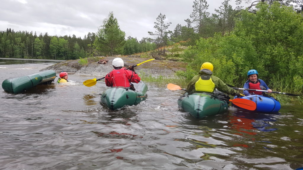 packraft, selfrescue, wet re-entry, kurssi